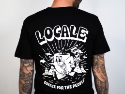 coffee for the people tee - black (back)